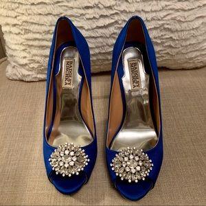 Blue Bagdley Mischka Stilettos